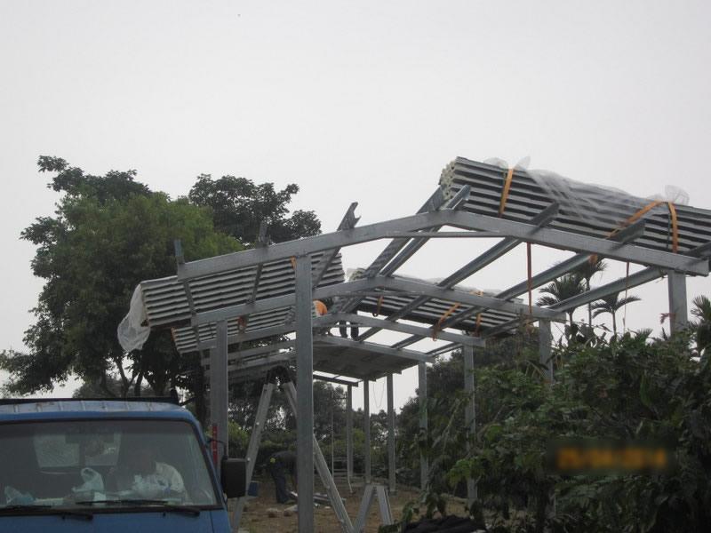 工程內容:鐵皮走廊結構加強處理-廠房防水處理